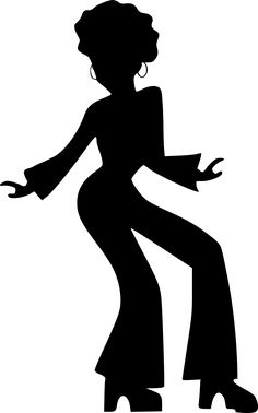 236x378 70's Disco Dancers Silhouettes Cutouts Birthday Party Dance