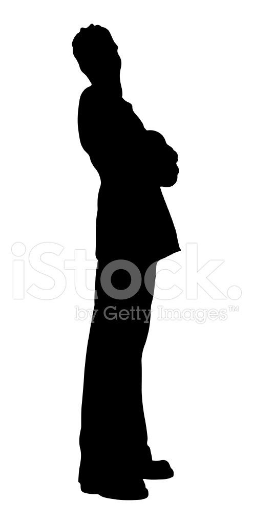 494x1024 Man In Disco Suit Silhouette Premium Clipart