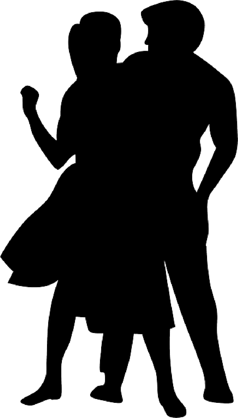 800x1406 Disco, Dance, Music, People, Silhouette, Couple, Dancer