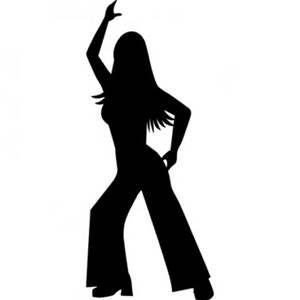 300x300 Disco Dancer Silhouette Disco Silhouette Girl Ness 40
