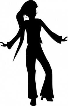 236x368 70's Disco Dancers Silhouettes Cutouts Birthday Party Dance