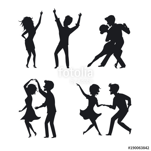 500x500 Couple Man And Woman Dance Tango Twist Romantic Disco Club Dancing