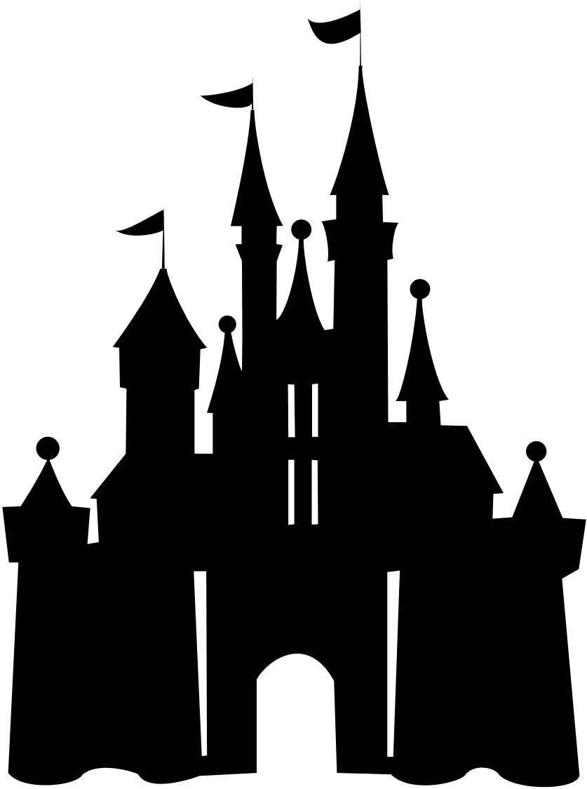 837x1125 Disney Cinderella Castle Silhouette Wedding Invitations
