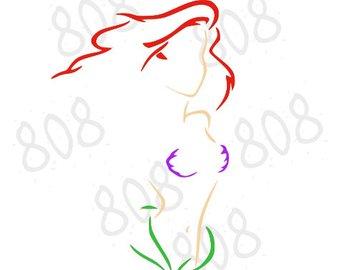 340x270 Ariel Svg File Etsy