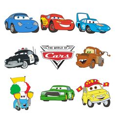 236x236 Disney Cars Svg Bundle. Lightning Mcqueen Svg, Mater Svg. Cars