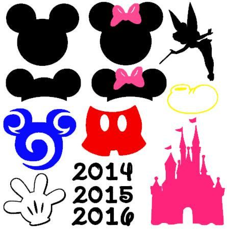 445x449 741 Best Disney Svg Images On Silhouettes, Disney