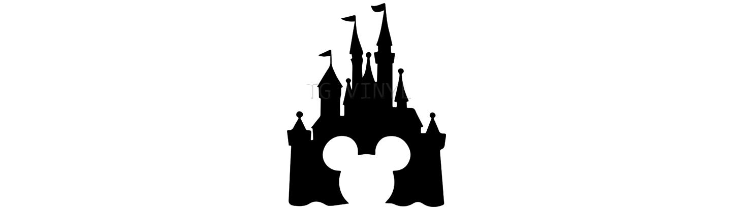 1443x414 7.5 Disney Castle Vinyl Decal Sticker Car Window Laptop Magic