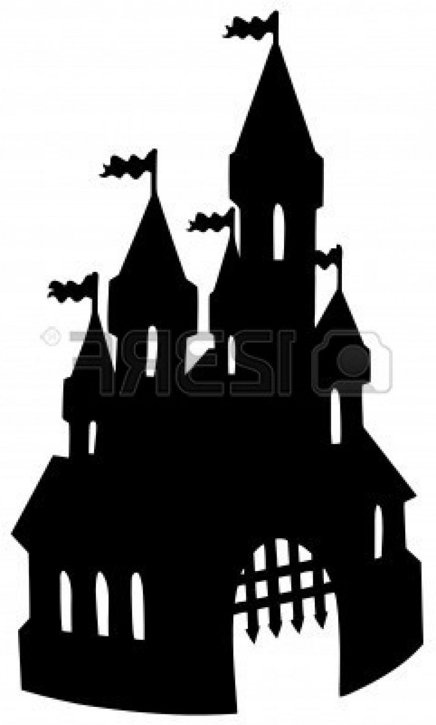 867x1440 Castel Clipart Silhouette Collection