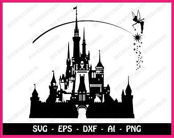 340x270 Castle Silhouette Etsy