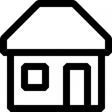425x425 Image Of House Outline Clipart