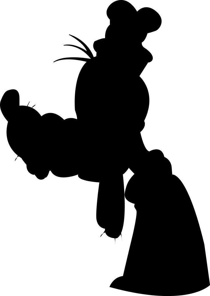 736x1037 Free Download Disney Goofy Silhouette Clipart For Your Creation