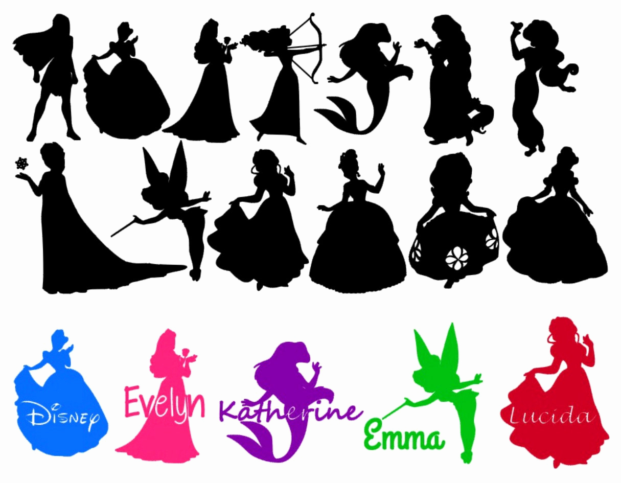 1215x945 Best 50 Classic Disney Character Silhouettes Fresh