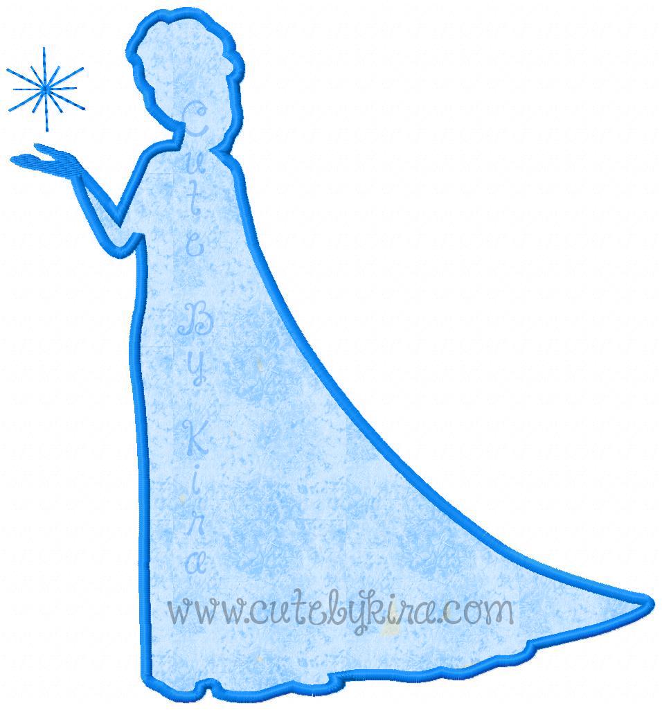 Disney Elsa Silhouette