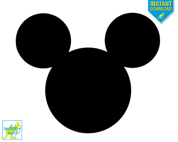 570x456 Mickey Mouse Head Printable Iron On Transfer Or Use As Clip