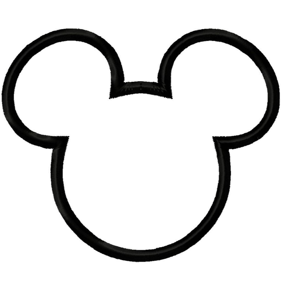 900x900 Mickey Mouse Polka Dot Head Clipart Black And White Collection