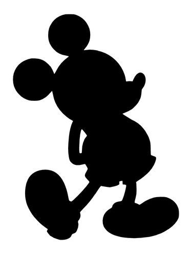 377x500 Mickey Mouse Silhouette Mickey Mouse Body Silhouette Mickey