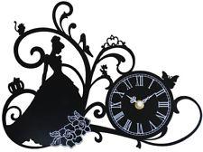 225x168 Disney Princess Cinderella Wall Clock Metal Frame Black
