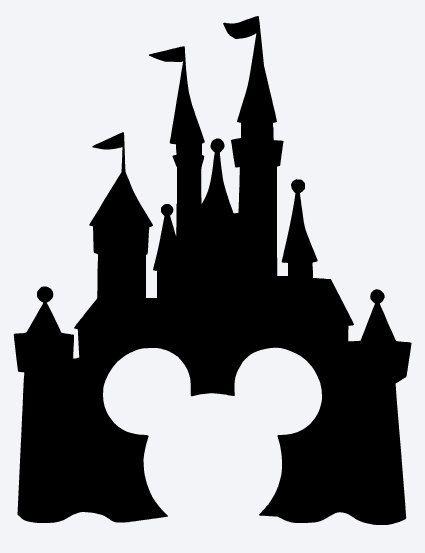 425x553 Cinderella Castle Clipart Castle Silhouette Collection