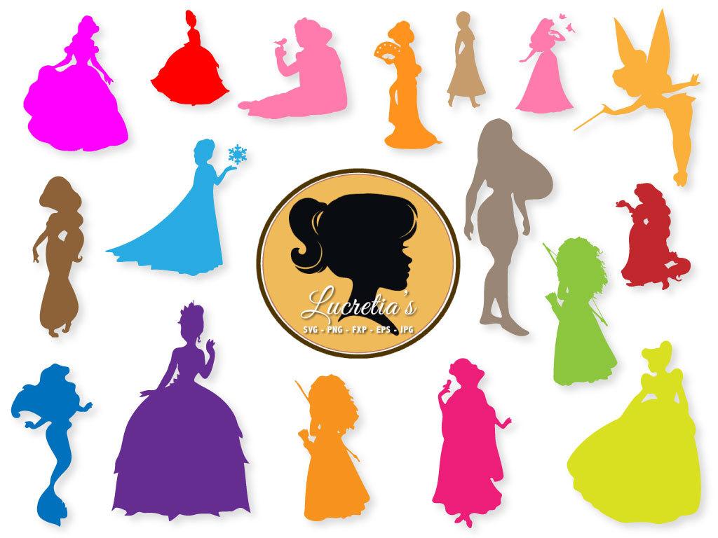 1024x768 Disney Princess Silhouette Dxf Princess Clipart Svg Files