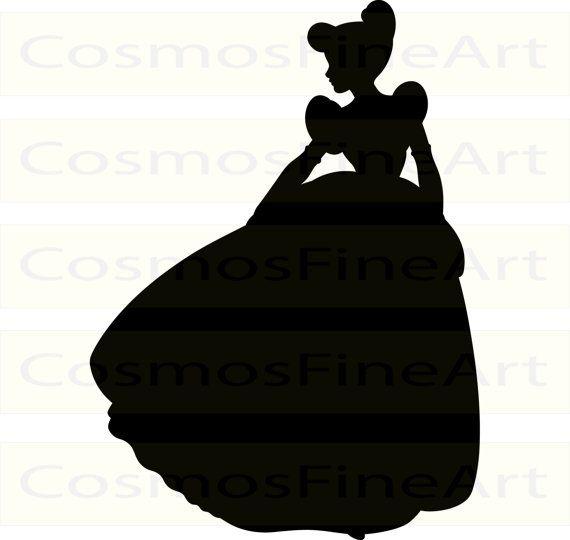 570x540 57 Disney Princess Svg, Disney Princess Silhouette Clipart, Ariel