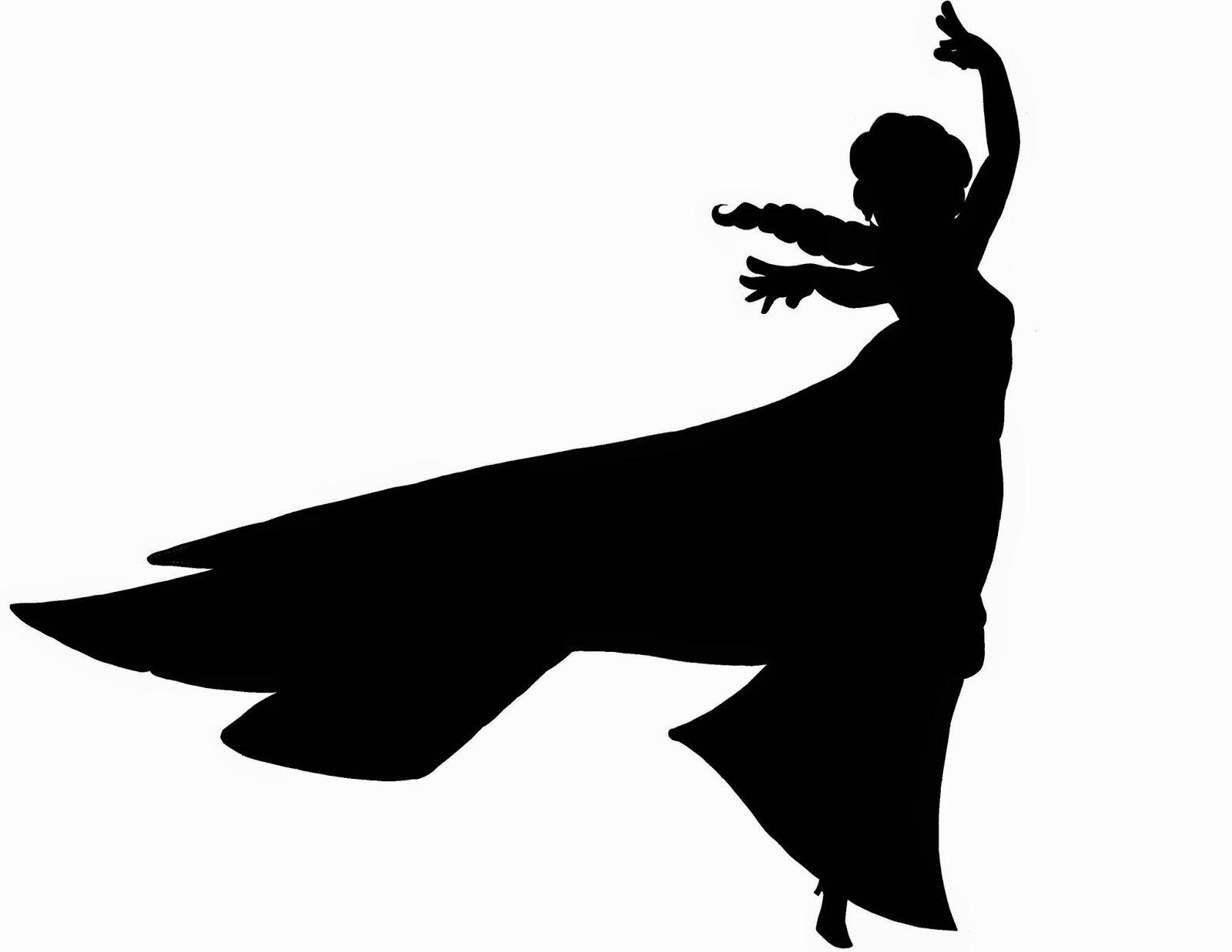 1600x1237 Elsa Dancing Silhouette
