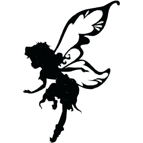 500x500 Printable Fairies 9 Best Images Of Printable Fairy Silhouette Free