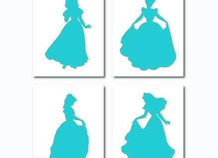 440x320 Wall Arts Disney Princess Silhouette Wall Art Princess