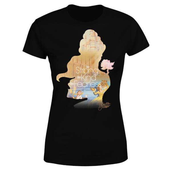 600x600 Disney Princess Filled Silhouette Belle Women's T Shirt