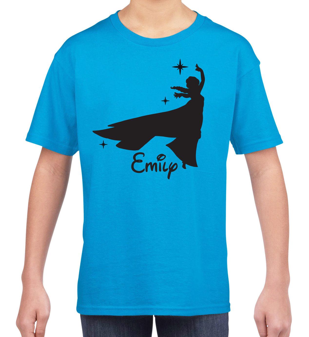 1268x1385 Kids Personalised Silhouette Princess Disney Elsa Inspired Name T