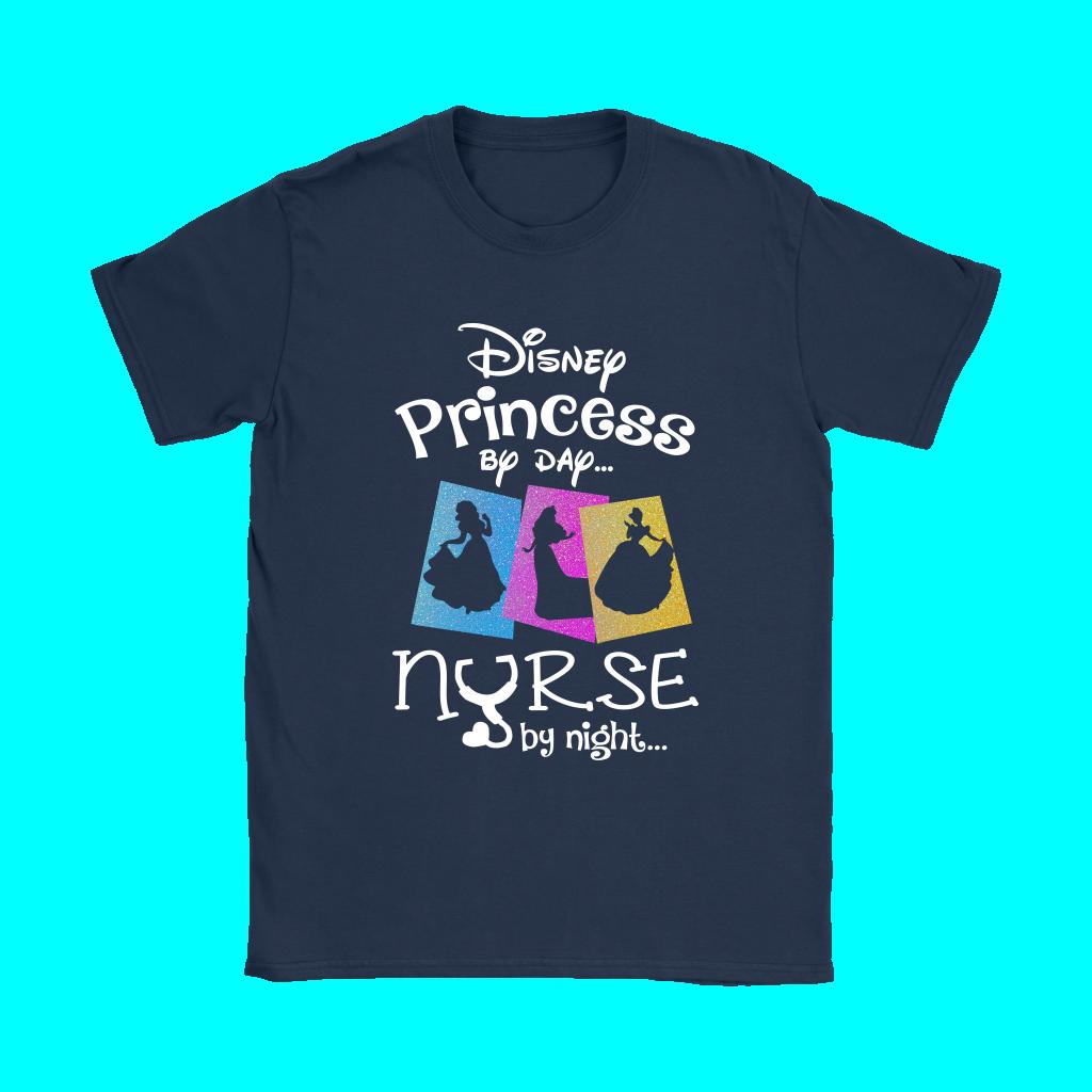 1024x1024 Disney Princess By Day Nurse By Night Silhouette Shirts Teeqq