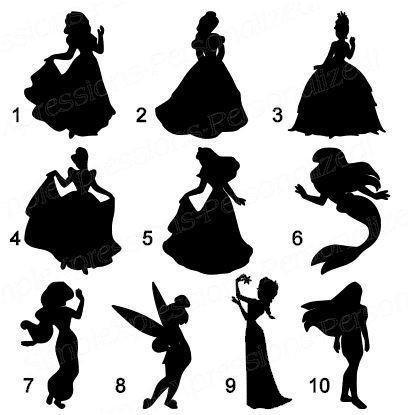 Disney Princess Silhouette Stencils