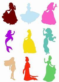 200x275 Disney Princess Silhouette Stencils
