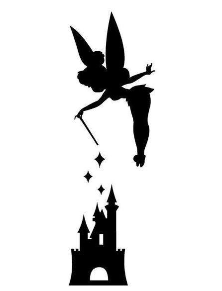 446x585 Tinker Bell With Disneyland Castle Vinyl Decal By Halloween