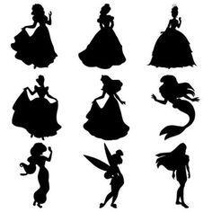 236x236 Disney Princess Silhouette Free Printables