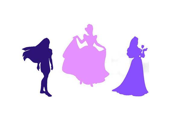 570x399 Disney Princess Vinyl Sticker For Carwallwindowlaptop