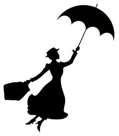 236x270 Mary Poppins Stencil Disney Silhouettes, Silhouettes And Mary