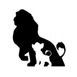 300x300 5.5 Lion King Silhouette Vinyl Decal Sticker Car Window Laptop