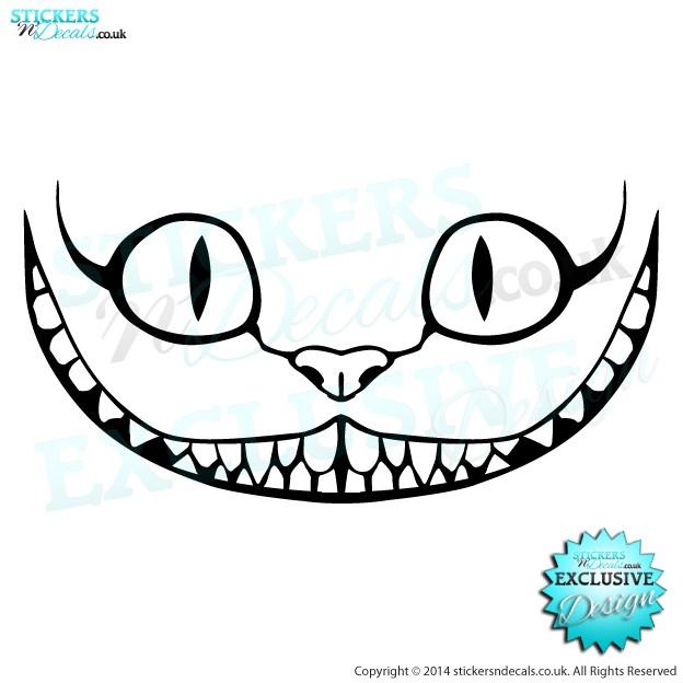 624x624 Cheshire Cat Car Sticker Decal Vinyl Graphics