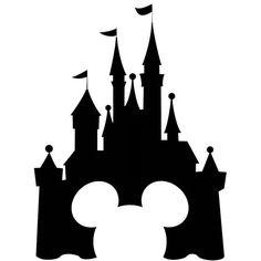 236x236 Disney Castle Vinyl Wall Decal Sticker Disney Castle Silhouette