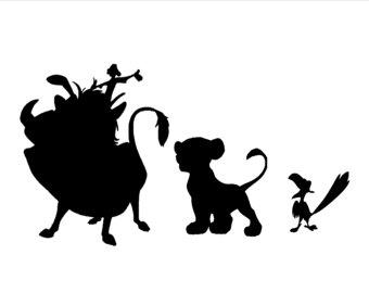 340x270 Lion King Wall Decal Nala Simba Disney Cartoon Vinyl Sticker