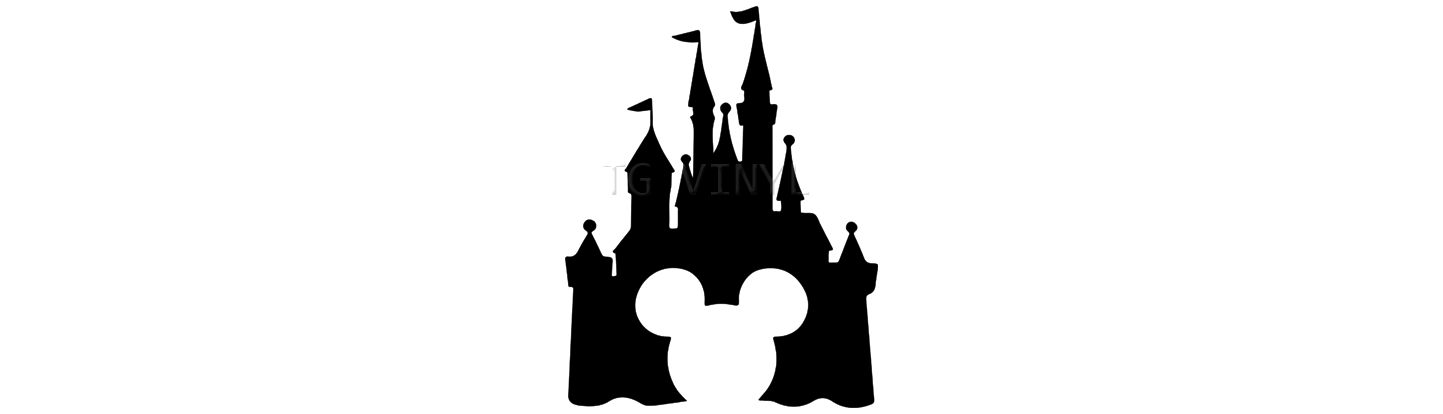Disney World Castle Silhouette
