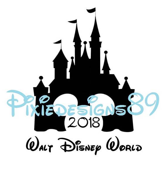 570x608 Disney Castle 2018 Walt Disney World Black And White