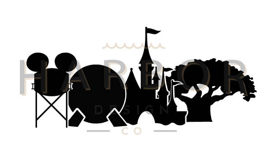 570x319 Disney World Parks Icon Decal Sticker Hollywood Studios