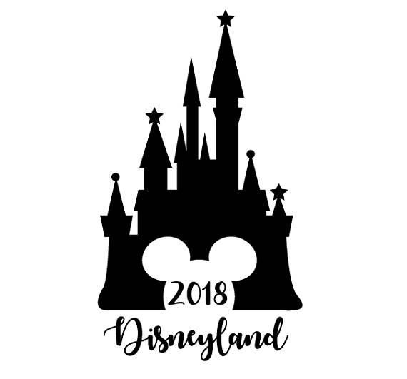 570x531 2018 Disney Svg Cut File 2018 Disneyland Cinderella Castle