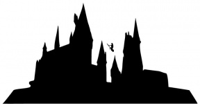 288x153 Castle On Rock Silhouette Clipart