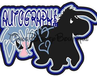 340x270 Disney Svg Clipart Tigger Autograph Title Scrapbook Vacation
