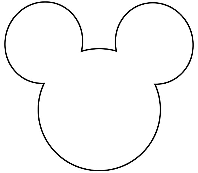 686x600 Incredible Design Ideas Mickey Mouse Head Outline Leaf Template