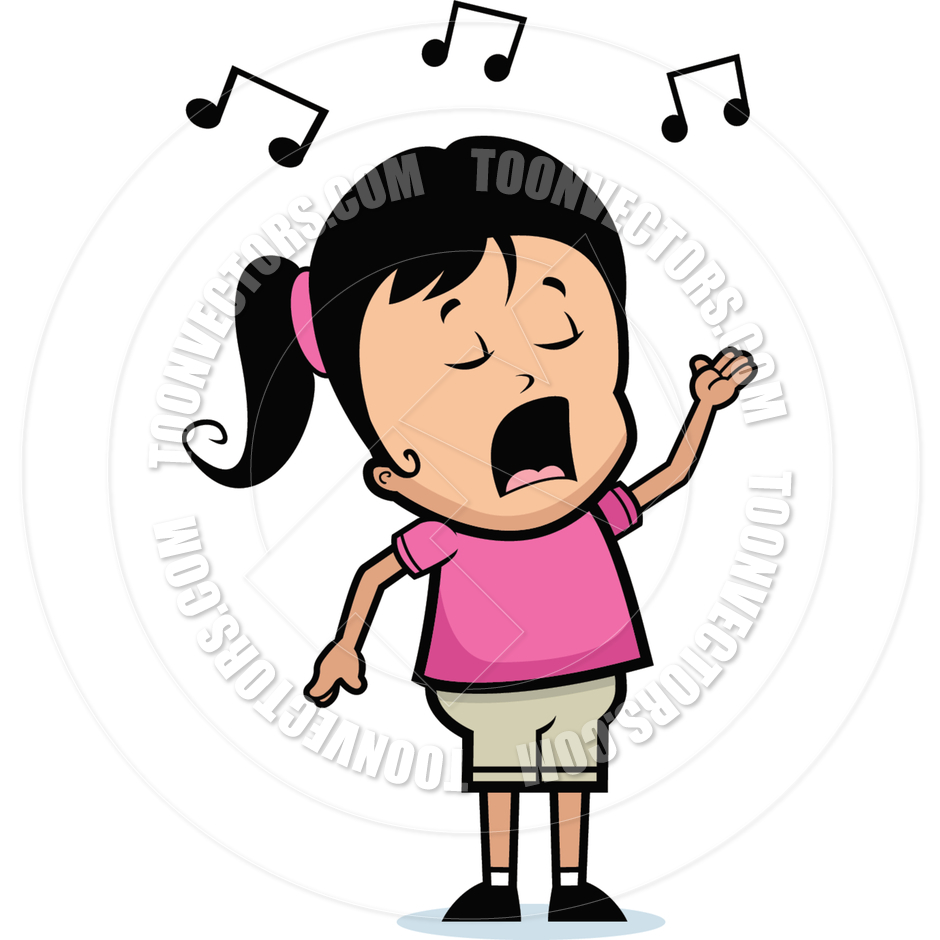 940x940 Girl Singing Clipart