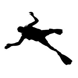 270x270 Scuba Diver Silhouette Stencil Free Stencil Gallery