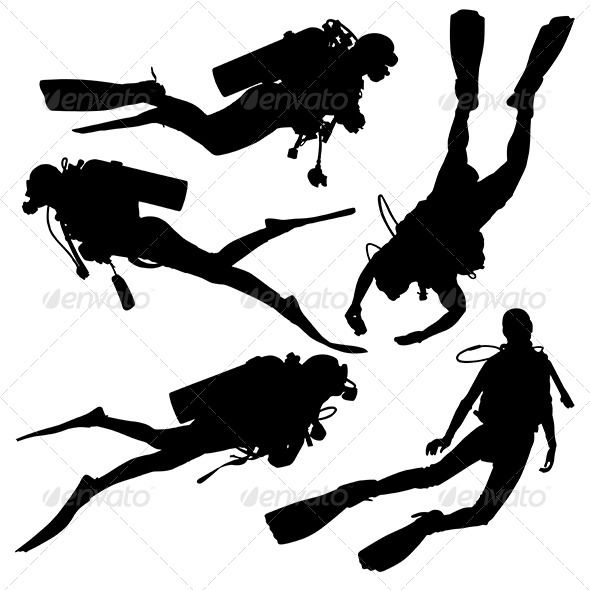 590x590 Diving Silhouette Silhouette, Activities And Tattoo